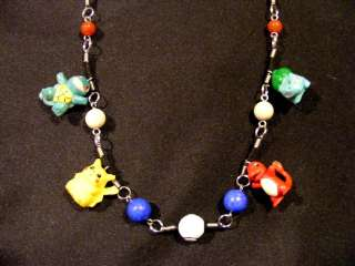 Ash Ketchum Pokemon Charm Pendant Necklace Pikachu Squirtle Charmander
