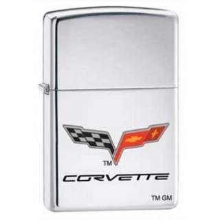 Corvette Logo Car Manufacturer Chrome Zippo Lighter