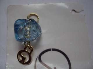 St. John Knit Gold Blue LOGO Jacket Zipper Pull pendant