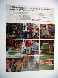 Coleman Camping Catalytic Heater 1976 print Ad