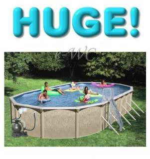 18x33x52 Brown Oval Swimming Pool Set + Pump & more