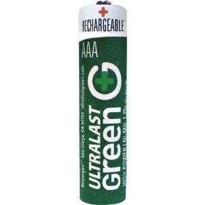 Ultralast ULGHP8AAA AAA Green High Power Rechargeable Batteries   8