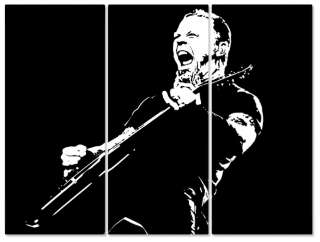 JAMES HETFIELD METALLICA POP ART BILD XXL 150x115cm no CD/DVD