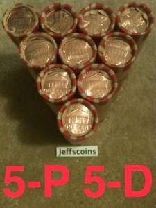 10 BU ROLLS 2011 LINCOLN SHIELD PENNY 50 CENT 5 P 5 D OBW MS MINT UNC