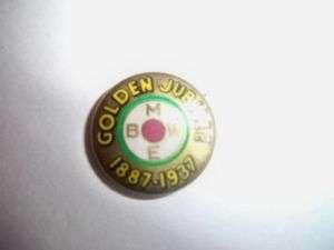 Vtg. BMWE Railroad Union Golden Jubilee Pin 1887 1937