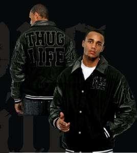 New Thug Life College Jacke, Skull, Haft, Bang, Phat