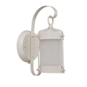 Green Matters Piper Wall Mount Outdoor White Light Fixture HD 3944 at