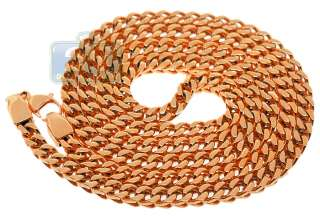 Rose Gold Plated Steel Mens Franco Chain 30 Inches