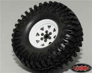 Complete Set of (4) 6 Lug Wagon Style Steel 1.9 Beadlock Wheels