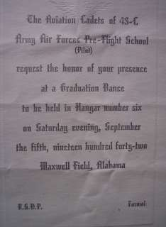 Alabama Army Air Force Aviation Cadets of 43 C dance program