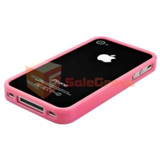 Pink+Purple Frame Bumper TPU Hard Soft Rubber Silicone Case for iPhone