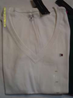 Tommy Hilfiger NWT Womens Short Sleeve V Neck Tee Shirt XS S M L