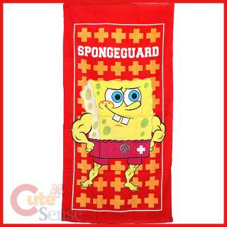 SpongeBob Beach / Bath Towel Cotton 30x60  Spongeguard