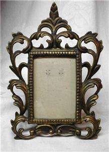 VERY NICE ANTIQUE CAST IRON VICTORIAN PICTURE FRAME