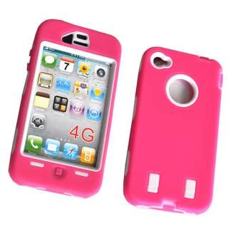 Deluxe Silicone Rubber Hard Case Cover Skin Shape For IPHONE 4 4G Rose