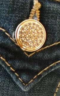 NWT True Religion womens Misty Glitz & Glam skinny legging jeans in