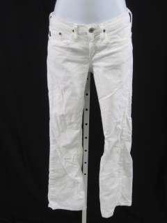ADRIANO GOLDSCHMIED Angel White Corduroy Pants Size 24