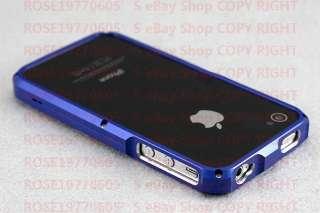PR0400 I Blue Aluminium Bumper Metal Case Cover f. Genuine Apple
