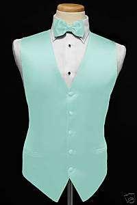 Premiere Satin Vest & Tie (36 Colors)    Pool