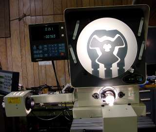 14 Mitutoyo PH 3500 OPTICAL COMPARATOR, 2X DRO, SURF. ILL., 20X LENS