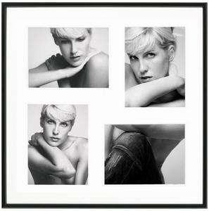 Galeria für 4 Bilder 15x20 cm Galerierahmen schwarz 50x50 cm