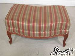 16589 ETHAN ALLEN Country French Chair and Matching Ottoman