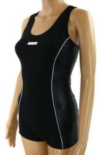 Damen Badeanzug mit Bein Schwimmanzug Hotpants mit Schwimmerrücken
