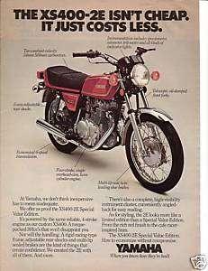 1978 Yamaha XS400 2E Motorcycle Ad