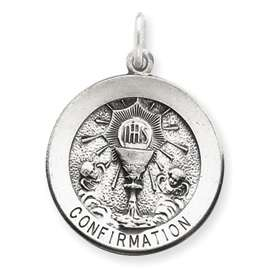 SML Vintage Sterling Silver Confirmation Pendant Charm