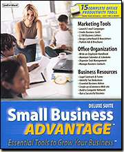 SMALL BUSINESS ADVANTAGE DELUXE * PC 15 OFFICE TOOLS * BRAND NEW