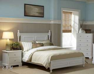 MORELLE COTTAGE WHITE WOOD QUEEN/ KING LOW PROFILE BED