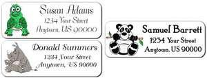 30 ZOO JUNGLE ANIMALS Custom Return Address Labels