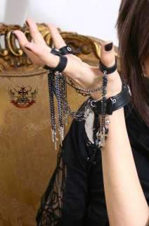 Gothic Punk Visual Kei 5 Ring+Cuff Bullet Weapon Kusari