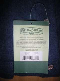 NWT FIELD & STREAM Mens XL Heavy Duty Flannel Long Sleeve Shirt BLUE