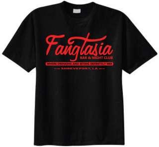 FANGTASIA True Bar & Night Club blood goth vampire teeth T shirt Size