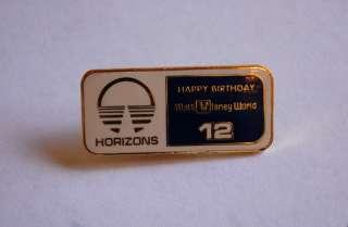 Walt Disney World 12th Anniversary HORIZONS Pin EPCOT