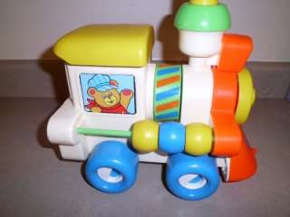 1982 Vintage Playskool Busy Choo Choo Train Activity Toy Fisher Price