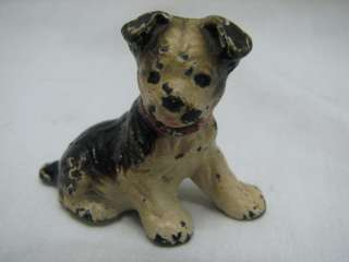 ANTIQUE HUBLEY CAST IRON BOSTON TERRIER DOG PAPERWEIGHT ACCESSORY