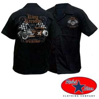 Speed Shop Work Shirt Rockabilly Garage Retro Kustom Kerosin Punk