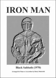 Black Sabbaths Iron Man for Solo Accordion or Piano