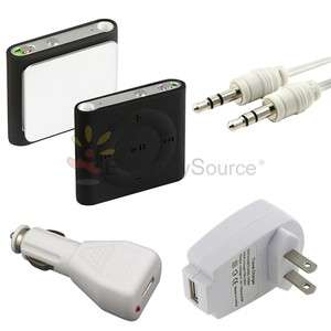 Soft Cover Case Skin+2 Charger+Cable Lead Cord For Apple iPod shuffle