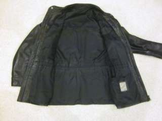 CUSTOM MADE BLack Soft Leather Jacket Made in Paris Size Large