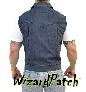 HEAVY DENIM BIKER VEST BY ANARCHY 100% AUTHENTIC OUTLAW VEST!!!