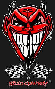 Shirt Devil Hot Rod Tattoo Teufel Dragstrip US Car Rockabilly Skater