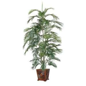 Artificial Potted All Natural Tropical Areca Palm Tree   Unlit