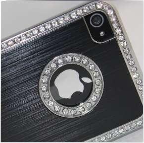 BLACK LUXURY DIAMOND BLING CASE COVER DESIGNED FOR IPHONE 4/4S
