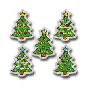 Christmas Trees Dazzle Stickers; 75 per Pack; Multi