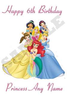 DISNEY PRINCESS Personalised Birthday Card