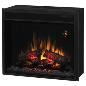 ClassicFlame 23 Fixed Glass Electric Fireplace Insert   23EF022GRA