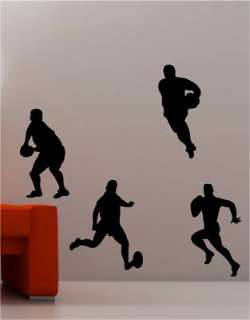 RUGBY PLAYERS kids wall art sticker vinyl SPORTS